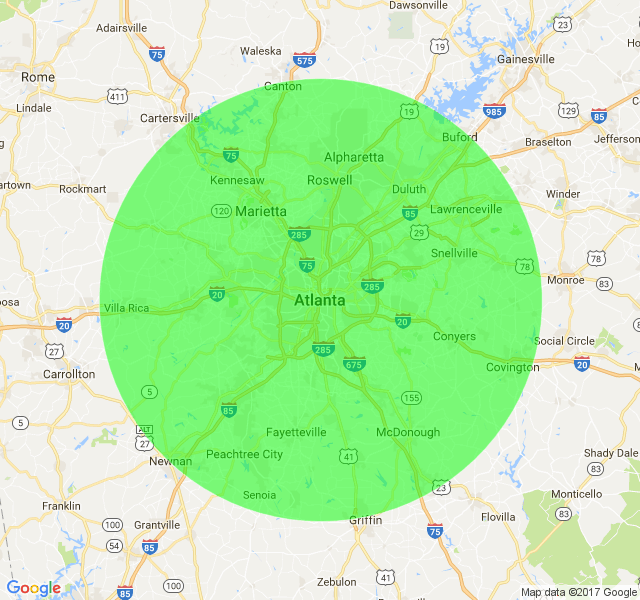 areas served around atlanta, ga